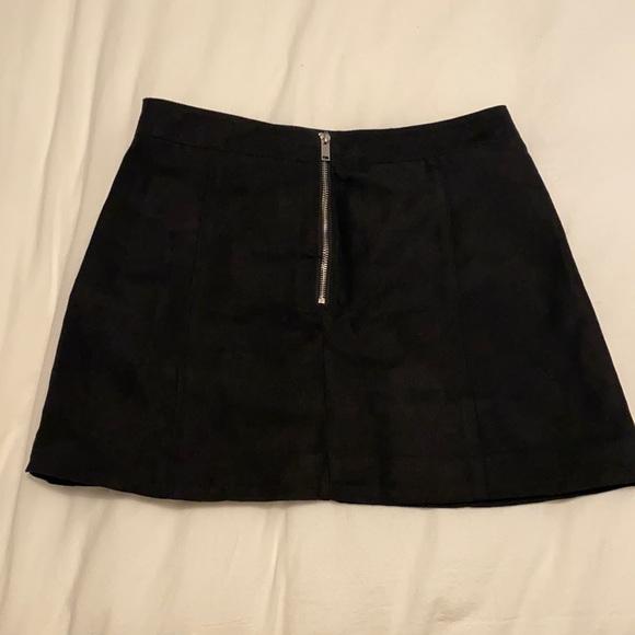 Black Faux Suede HM Skirt